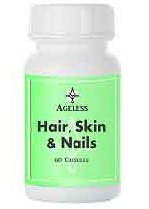 hair skin nail supplement formula capsules pills strong nails healthy hair glowing skin